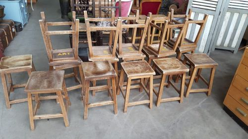 Wooden School Stools